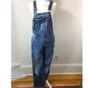 Vintage 90s overall tommy girl jeans size Small